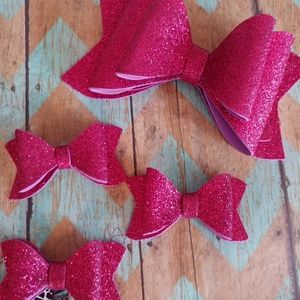 Other - Water resistant Hot Pink hair bows